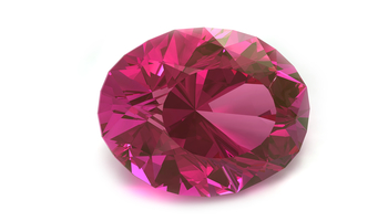Spinel stone on white background