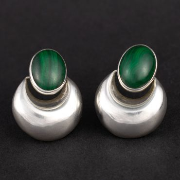 Silver & Malachite Earrings