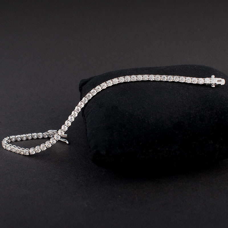 Single Row Diamond Line Bracelet (3ct)