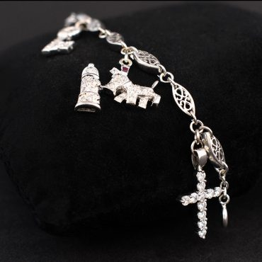 Diamond Encrusted Charm Bracelet