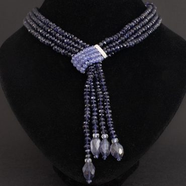 Labradorite Tassel Necklace by Elizabeth Gage