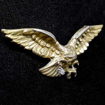 Edwardian Gold & Diamond Eagle Brooch/Pendant