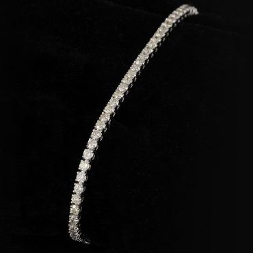 Single Row Diamond Line Bracelet (4.6ct)