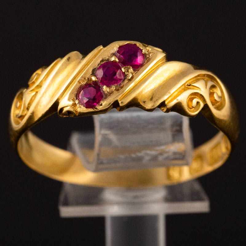 Victorian Ruby & Gold Ring
