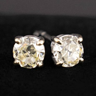 Early Victorian Diamond Stud Earrings